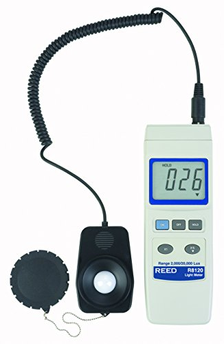 REED Instruments R8120 Lux Light Meter with Detachable Sensor, 20,000 Lux by REED Instruments
