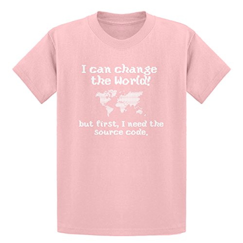 Indica Plateau Youth I Can Change The World Youth L - (10-12) Light Pink Kids T-Shirt