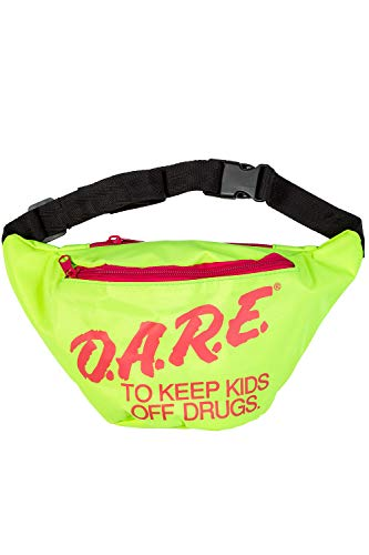 Halloween Pak Mannen (Neon Retro DARE Fanny Pack Waist Bags with Adjustable Waist Straps (Neon)