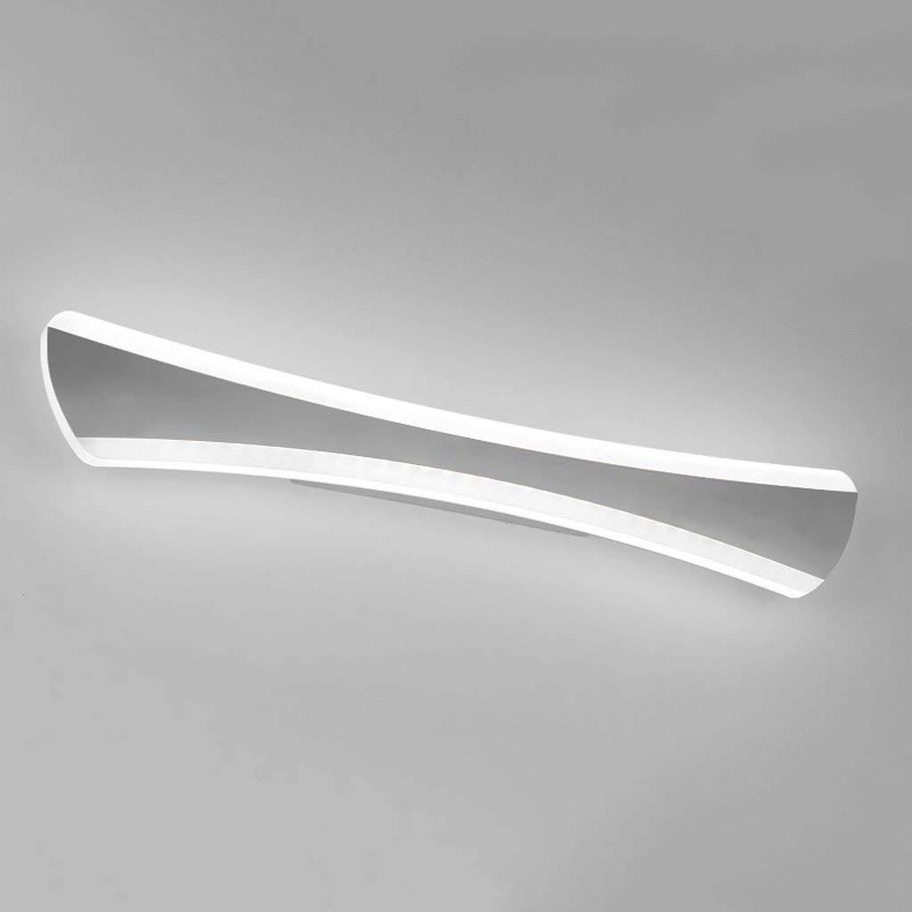 Einfache Moderne Led Edelstahl Bad Wasserdicht Beschlagfrei Spiegel Scheinwerfer A+ (Größe  15W Weiß 55 Cm)