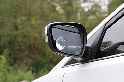 Blind Spot Round Mirror,Frameless HD Glass Convex Wide Angle 360 Rotatable Adjustable Stick-On RearView for All Car SUV Trucks