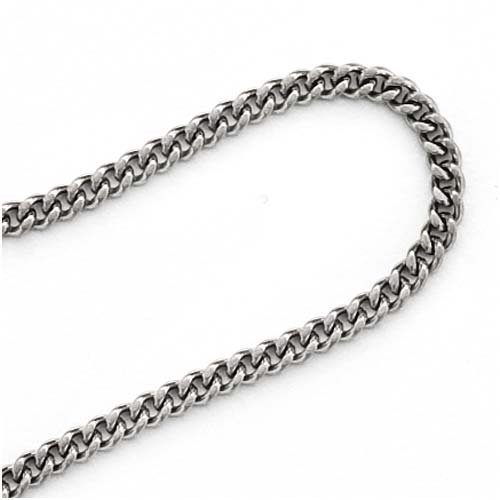 Beadaholique Stainless Steel 2.9mm Curb Chain for 24-Inch Necklace (24 Inch Open Link Necklace)