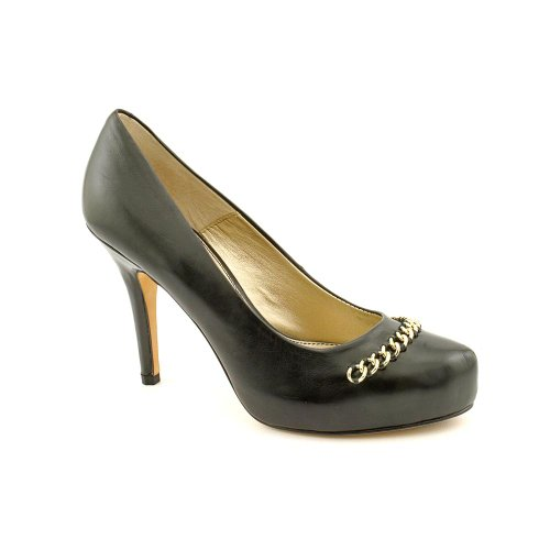 Isola Womens Coral Leather Closed Toe Classic Pumps Black