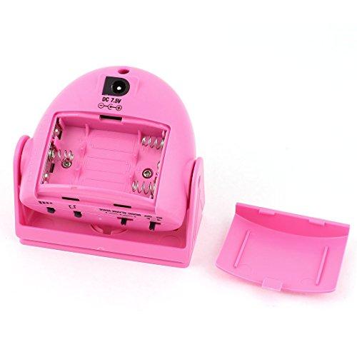 Amazon.com: eDealMax Sensor de infrarrojos cabeza Rotatoria de alerta saludo de bienvenida Timbre de la puerta rosa: Electronics