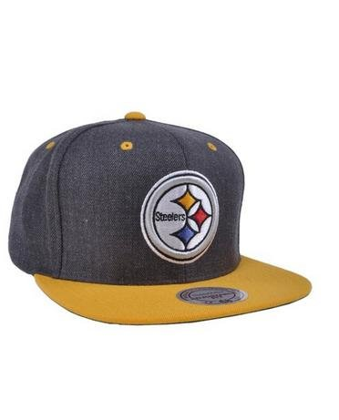 50ba1e5339c Image Unavailable. Image not available for. Color  Mitchell   Ness Heather  Team NFL HAT Pittsburgh Steelers CAP