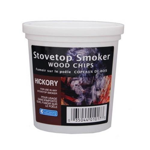 Hickory Wood Smoker Chips- 100% Natural Wood Smoking and Barbecue Chips- 1 Pint