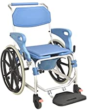 Gammal man förstärkning hjul dusch stol räcken kan vändas till funktionshindrade inomhus mobil dusch stolar till sitsstol-Räcken kan vändas
