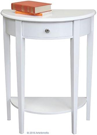 Artigiani Veneti Riuniti Consola Media Luna lacada de recibidor, Mueble Consola, Mesa Consola con cajón, Mueble de recibidor, Consola pequeña, Mueble Artesanal: Amazon.es: Hogar
