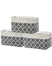 TheWarmHome Decorative Basket Rectangular Fabric Storage Bin Organizer Basket with Handles for Clothes Storage