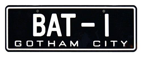Celebrity Machines Batman | 1966 BAT-1 | Metal Stamped License Plate