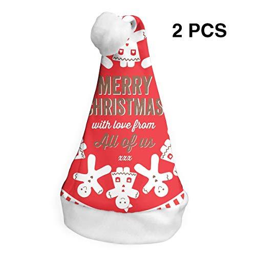 TingsCity Merry Christmas Christmas Hat Santa Hat 2pcs ()