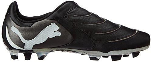 Puma 01:10 101898 Powercat fg zapatos deportivos fútbol para hombre Negro (Black-White-Aged Silver)