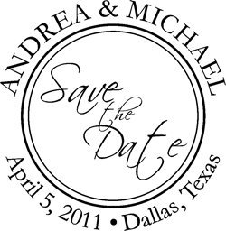 Save The Date Round Stamp -