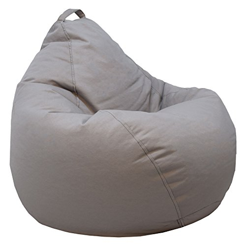 (Ace Casual 1087201 Casual Denim Teardrop Bean Bag Chair, Gray)