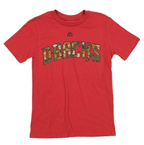 - Majestic MLB Boys Youth USMC Woodland Camo Logo T-Shirt, Team Options (Arizona Diamondbacks, Large (14/16))