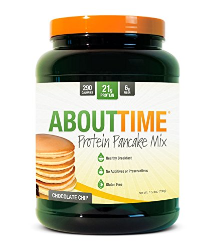 Time Protein Pancake Mix, Chocolate Chip, 1.5 Pound (Packaging may vary) (Chocolate Chip Pancake Mix)