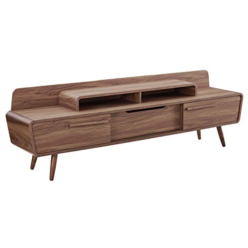 Modway Omnistand 74″ Mid-Century Modern Low Profile Media Console...