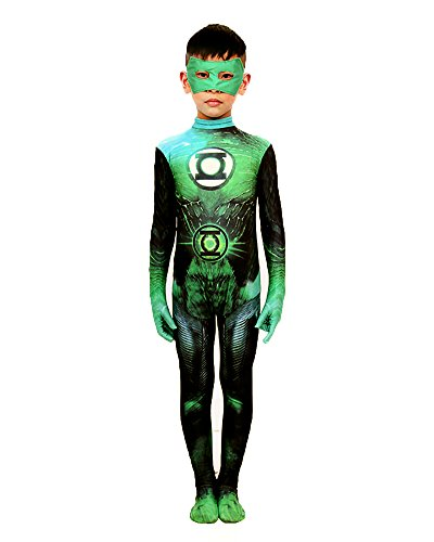 Green Lantern Child Costumes (Sheface Kids Green Lantern Halloween Costume (Small, P07))