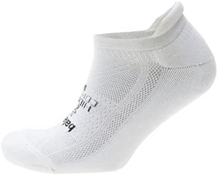 Balega Hidden Comfort Athletic No Show Running Socks for Men and Women with Seamless Toe, White, X-Large