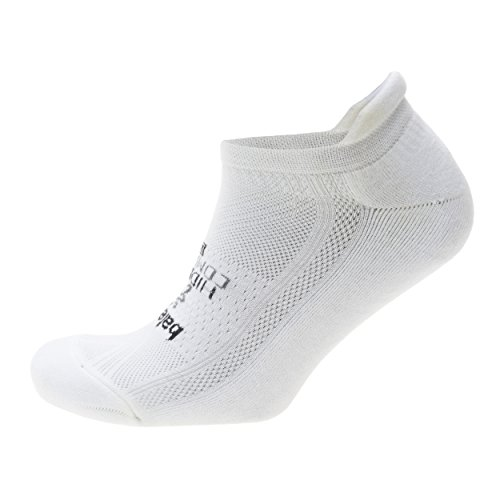 Balega Hidden Comfort Athletic No Show Running Socks for Men and Women with Seamless Toe, (Medium) - White