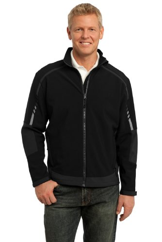 Port Authority Men's Embark Soft Shell Jacket M Black/Deep Grey