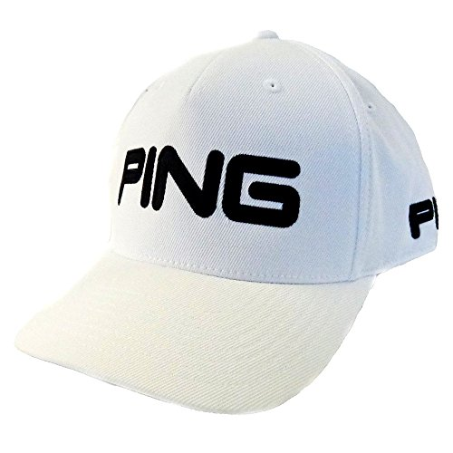 (NEW 2016 Ping Tour Structured Play Your Best White/Black Fitted L/XL Hat/Cap)