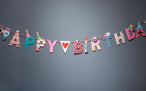 Happy Birthday Banner Home Decoration Colorful and Fun Paper Birthday Banner Flags with String 78 (Happy Birth)