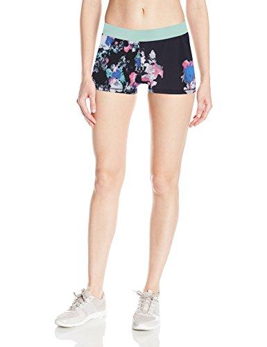Soffe Women's JRS Dri Short Poly/spdx, Floral Motion Blues/FLOMC, Medium - Floral Spandex Shorts