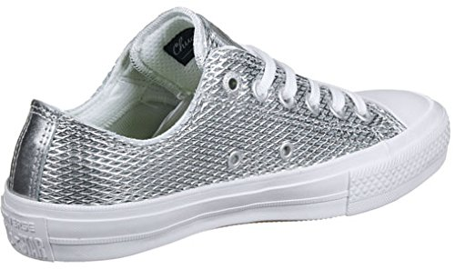 Chuck Converse II Baskets Argenté Perforated 5nH7B