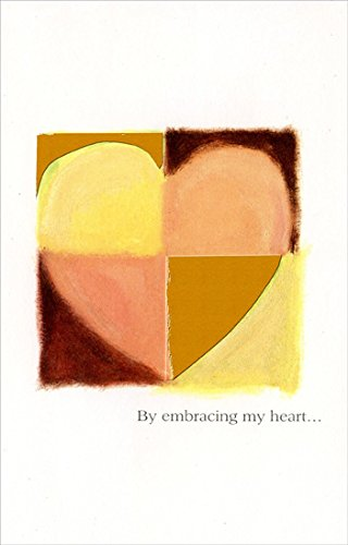 - Quartered Pastel & Gold Heart: Embracing My Heart - Freedom Greetings Valentine's Day Card