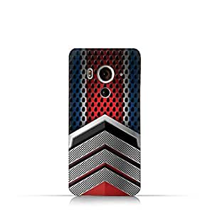 HTC Butterfly 3 TPU Silicone Case With Geometric Mesh Pattern Design