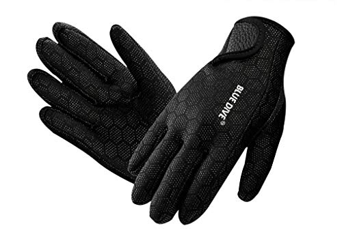 Neoprene Wetsuit Gloves Super Stretch Diving Gloves 1.5mm Anti-slip Scuba Surfing Swimming Snorkelling Gloves Sailing Kayaking Canoeing Watersports Activities Thermal Gloves for Adults and Juniors