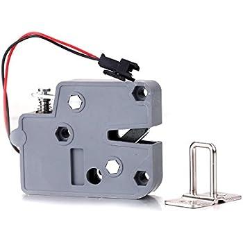 CSLU 2Pcs Mini 12V 2A Electromagnetic Lock Plastic Locks For Cabient Door Furniture Access Control System