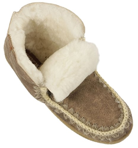 Style Pia Shepherd Sole Ladies Sheepskin Boho Boot Slipper Hard v7xqwZgx0