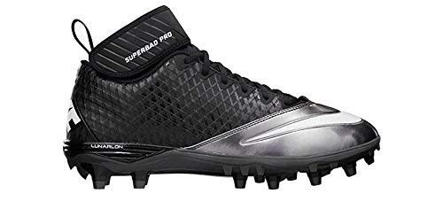 official photos f5dd6 fcc83 Nike Lunar Super Bad Pro TD Mens Football Cleats 13.5 Black Metallic Silver