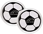 Prettyia 2 Piece Football Soccer Referee Flip Coin Judge Toss Coin Pick Side Finder with Plastic Carry Case