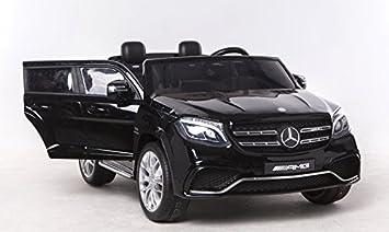 RIRICAR Mercedes-Benz GLS 63 Negro - 2.4Ghz, Coche eléctrico para niños, 2 x 12V, 4 X Motor, Mando a Distancia, Dos Asientos en Cuero, Ruedas ...