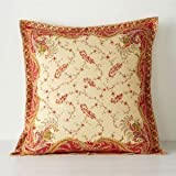 Lauren by Ralph Lauren Mirabeau Paisley Red EURO Pillow Sham
