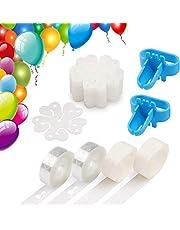DDMA Balloon Decorating Strip Kit for Arch Garland 32Ft Balloon Tape Strip, 2 Pcs Tying Tool, 200 Dot Glue, 20 Ballon Flower Clip for Party Wedding Birthday Xmas Baby Shower DIY Decoration