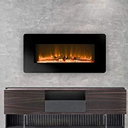 "LOKATSE HOME 23"" 1400W Insert Log Electric Fireplace Stove Heater with Realistic Ember Bed,Remote by LOKATSE HOME"