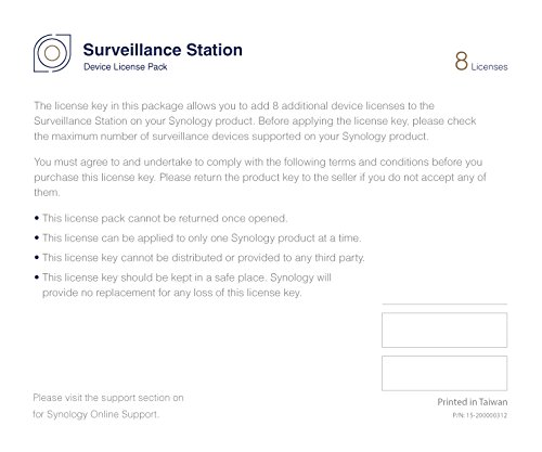Synology IP Camera License Pack for 8 (CLP8) by Synology (Image #2)