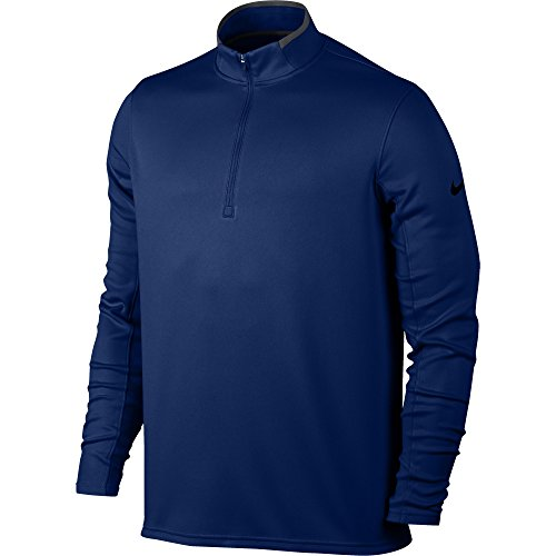 NIKE Men's Dry Half-Zip Golf Shirt, College Navy/Anthracite/Black, Small