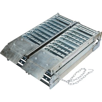 Ultra-Tow Folding Arched Steel Loading Ramps- 6ft 1,000-Lb. Load Capacity (Pair) ()