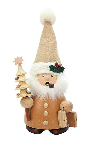 German Incense Smoker Santa Claus natural - 19cm / 7 inch - Christian Ulbricht by Authentic German Erzgebirge Handcraft