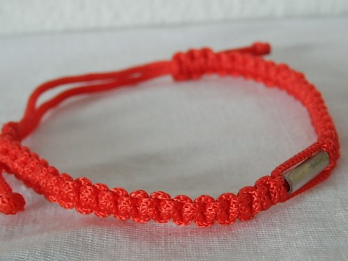 Thai Amulet Thai Talisman Red Cotton Authentic Buddhist Wristbands Handmade Bracelet