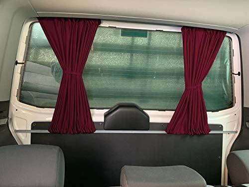 T4 Transporter - Cortinas para el parasol con portón trasero o puertas correderas, color rojo vino: Amazon.es: Bebé