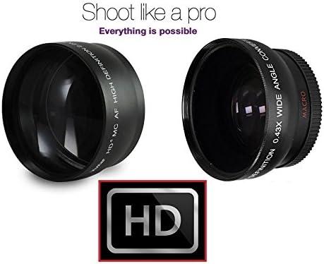 Hi-Def Telephoto /& Wide Angle Lens Set for Panasonic Lumix DMC-G7 DMC-G7K 46mm Compatible