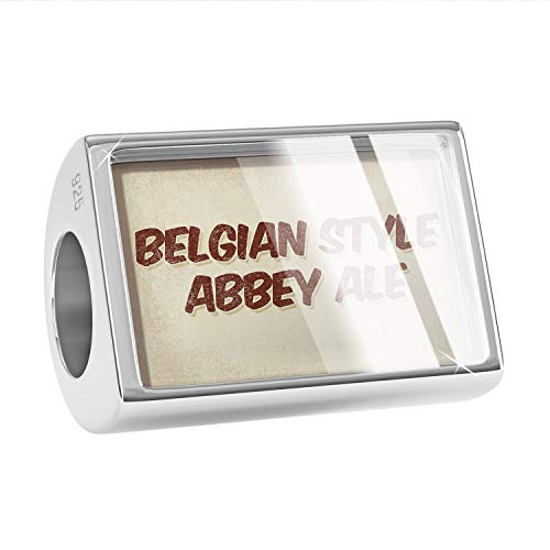 NEONBLOND Charm Belgian Style Abbey Ale Beer, Vintage Style 925 Sterling Silver Bead