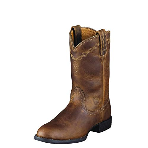 Ariat Women's Women's Heritage Roper Work Boot, Distressed Brown, 7 B - Women For Brown Work Boots