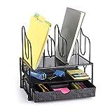 CAXXA Desktop Organizer with Two Trays, Drawer